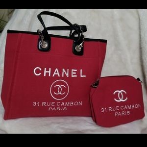 VIP Gift Chanel Tote with pouch. Brand new.